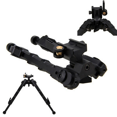 Adjustable 7 - 9 inch Rifle Bipod CNC QD Tactical Picatinny Rail Flat Stud Mount