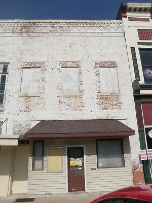 NO RESERVE!!! 2 Story Brick Commercial Bldg. in IL UP FOR AUCTION!!!