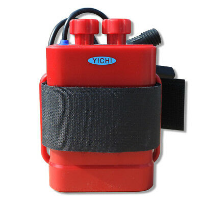 Waterproof With cable USB 5V/DC 8.4V 6x 18650 Battery Storage Case Box (red)