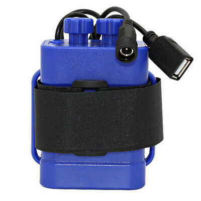 Waterproof With cable USB 5V/DC 8.4V 6x 18650 Battery Storage Case Box (Blue)