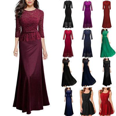 UK Women Party Dress Evening Cocktail Prom Ball Gown Wedding Bridesmaid Dresses
