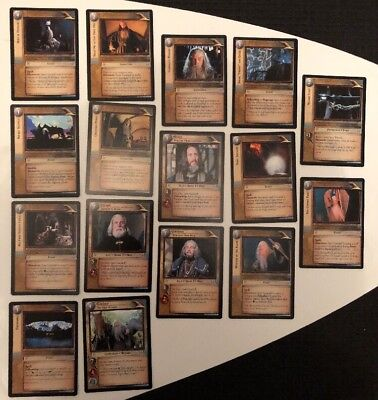 Lord Of The Rings Trading Card Game Gandalf Culture Booster Cards Lot Of 16