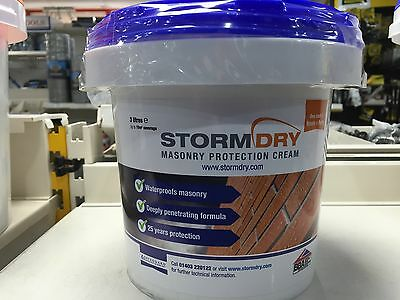 3Ltr Tubs Of Stormdry - Also Free Brush And Free Gloves !!