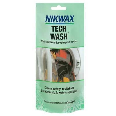 Nikwax Tech Wash 100ml Pouch Outdoor Clothing Cleaner for Waterproof Protection