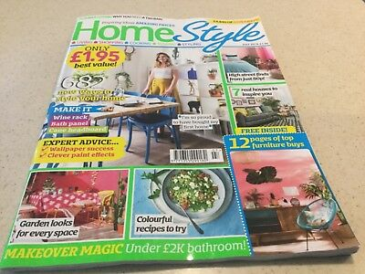 Home Style magazine JUN 2018 Make; Retro Side table, Gin Banner & Marquee Light