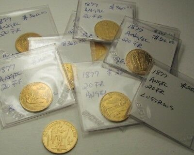 1877 20Franc Angel of God coins  Free Shipping!!!!!
