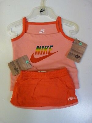 New Baby Girls Nike Vest And Shorts Set Pink 3 - 6 Months