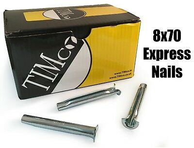 TIMco 8 x 70mm Express Nails Anchor Masonry Brick Timber Frames Box of 100