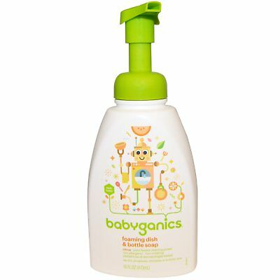BabyGanics, Foaming Dish & Bottle Soap, Citrus, 16 fl oz (473 ml)