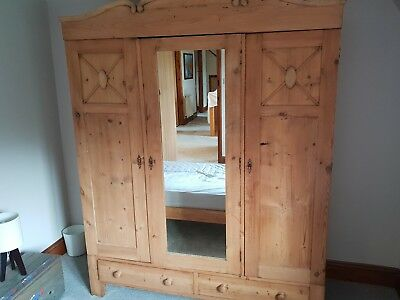 antique pine wardrobe