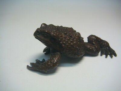 Antique Japanese copper toad statue B5