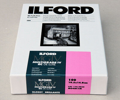 Ilford Multigrade IVRC De Luxe Glossy Black & White 10.5cm x 14.8cm 100 sheets