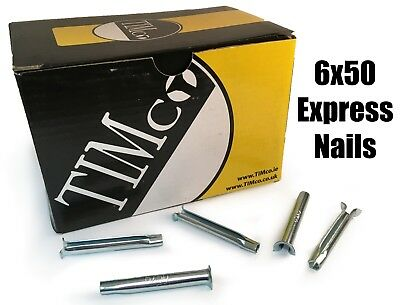 TIMco 6 x 50mm Express Nails Anchor Masonry Brick Timber Frames Box of 200