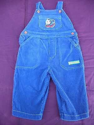 Baby boys My First Thomas Thomas the Tank Engine blue cord overalls Size 0