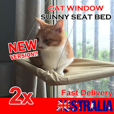 2x Cat Window Mounted bed Seat Pets Sunny Hammock Cover Washable AU