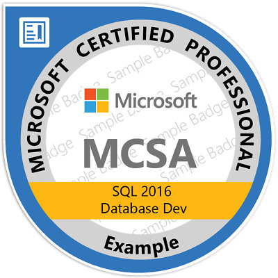 MCSA: SQL 2016 Database Development, EXAMS 70-761, 70-762 Q&A PDF ONLY