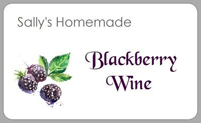 BLACKBERRY BRANDY LABELS Homemade Wine