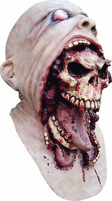 Halloween Deluxe Latex Zombie Blurp Charlie Skull Head Neck Overhead Mask Fancy