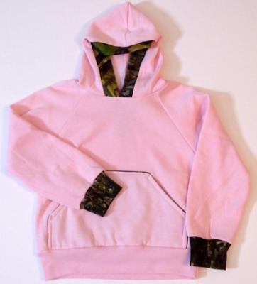 Mossy Oak Camo/ Pink Girl's 4/5-6/7 Licensed Hooded Sweatshirt  Made in the USA