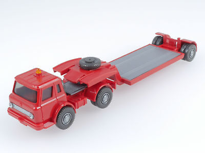 Wiking 722/1 A International Harvester Tieflader LKW Rot TOP! 1606-07-49
