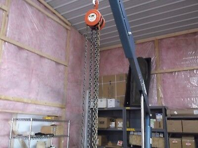 COLUMBUS MCKINNON CM SERIES 622 1 TON CHAIN HOIST INDUSTRIAL, Approx 50' Chain