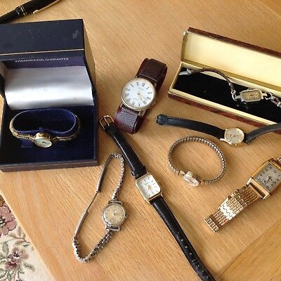 Job Lot Of Old Watches - Various Condition All Spares/repair Only