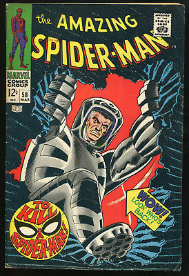 (Silver Age) The Amazing Spider-Man #58 VG/FN - Spider Slayer II