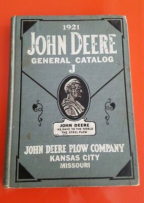 Original John Deere Plow Company 1921 General Catalog J Very Rare Only 1 On Ebay