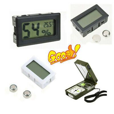 LCD Digital Thermometer Hygrometer Temperature Humidity Meter Clock Home Supply