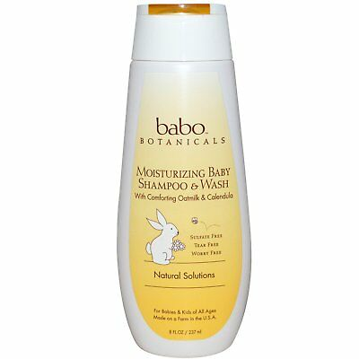 Moisturizing Baby Shampoo & Wash, Oatmilk & Calendula, 8 fl oz (237 ml)