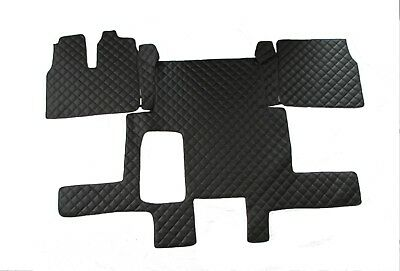 TRUCK Floor Mats LHD For MAN TGX 2006 - 2018 EURO 5 6 AUTOMAT BLACK Eco Leather