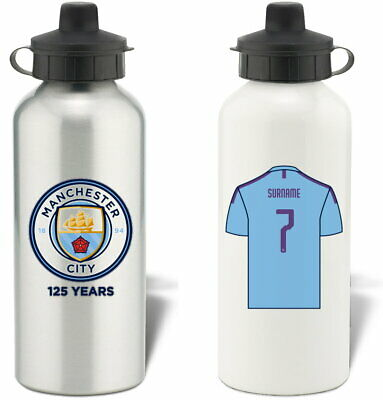 Personalised Manchester City FC Aluminium Water Bottle - Free Delivery
