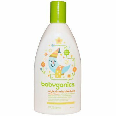 BabyGanics, Night Time Bubble Bath, Orange Blossom, 12 fl oz (354 ml)