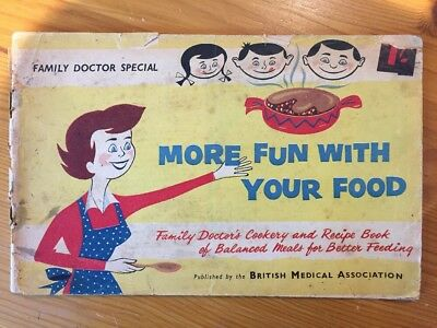 "Antique Vintage ""More Fun With Your Food"" 60 Page Booklet 1950s Cookery By BMA"
