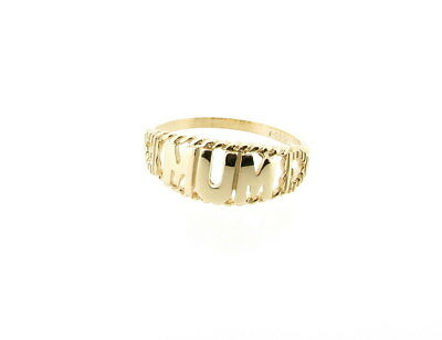 e9cdca05055ee 9CT YELLOW GOLD Mum Ring with Hearts - British Hallmarked - Made in the UK