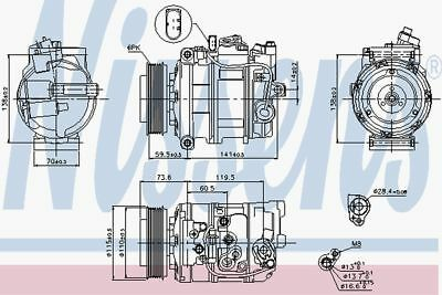 Nissens Compressor 89092 Fit with Audi A4
