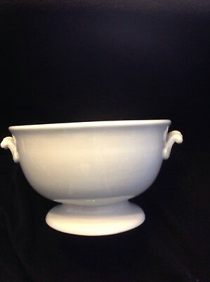 "Early Thomas Furnival White Ironstone  Footed 9 1/2"" Compote"