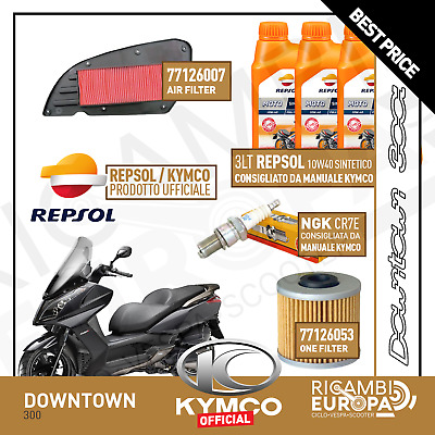 Kit Tagliando Specifico Per Kymco Downtown 300 Olio Repsol Candela
