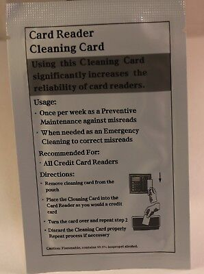 Card Reader Cleaning Card Package of 25