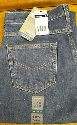 ed0bcbdaeee0 NWT MEN S CARHARTT Flame Resistant FR Relaxed Fit Jeans 34x34 FRB160 ...
