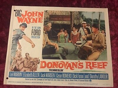 DONOVAN'S REEF original 1963 lobby card 11x14 movie poster JOHN WAYNE/LEE MARVIN