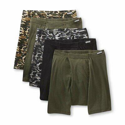 Hanes Men's Boxer Briefs 5-Pack Camo Comfort Soft Sizes S, M, L, XL