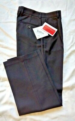 Mens Boys Black Teflon Protect Trousers School Work Smart 24-36 Waist SRL length