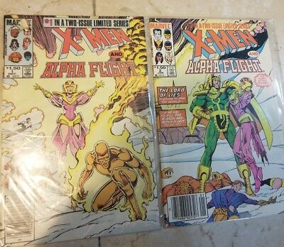 X-Men and Alpha Flight 1 and 2 of two issue mini-series.  HIGH GRADE