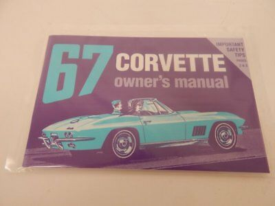 Corvette 1967 New Officially Licensed  Owners Manual
