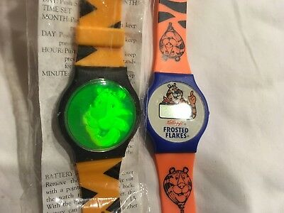 Tony the Tiger Watch, 2 watches, hologram, Kelloggs Frosted Flakes