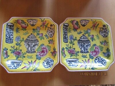 A PAIR OFCHINESE,DECORATIVE YELLOW, 1000 antiques design - RARE!!!!   LOVELY!