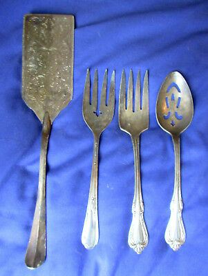 (3) Antique Silver Pieces and 1 Piece 1800's
