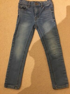 River Island Boys (6 Years) Skinny Fit Distressed Blue Jeans - On Trend!