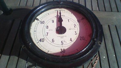 Old Vintage Everett Edgcumbe Electric Clock Industrial Timer Dial Clock